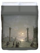 The Grand Canal From Piazza San Marco Duvet Cover