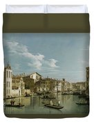 The Grand Canal In Venice From Palazzo Flangini To Campo San Marcuola Duvet Cover