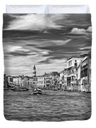 The Grand Canal - Paint Bw Duvet Cover