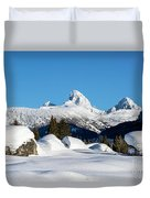 The  Grand Tetons From Alta Wyoming Duvet Cover