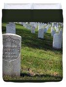 The Grave Of Martha B. Ellingsen In Arlington's Nurses Section Duvet Cover