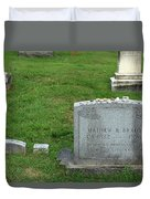The Grave Of Mathew Brady -- Renowned Photographer Of The American Civil War Duvet Cover