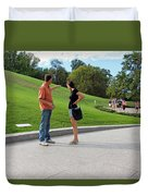 The Graves Of Robert F. Kennedy And Edward M. Kennedy -- Bobby And Ted Duvet Cover