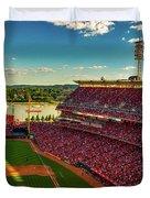 The Great American Ball Park - Cincinnati Duvet Cover