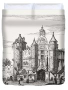 The Great Chatelet Of Paris. Principal Duvet Cover