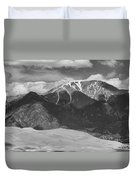 The Great Colorado Sand Dunes  125 Black And White Duvet Cover