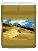The Great Colorado Sand Dunes Color Print Duvet Cover