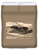 The Great Colorado Sand Dunes In Sepia Duvet Cover