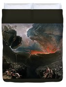The Great Day Of His Wrath Duvet Cover by Charles Mottram