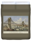 The Great East River Suspension Bridge Duvet Cover
