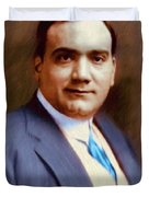The Great Enrico Caruso Duvet Cover