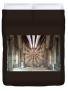 The Great Hall, Winchester Castle, Hampshire Zoom Burst Duvet Cover