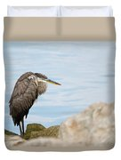 The Great Old Heron Duvet Cover