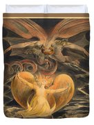 The Great Red Dragon And The Woman Clothed With The Sun Duvet Cover
