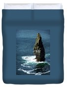The Great Sea Stack Brananmore Cliffs Of Moher Ireland Duvet Cover