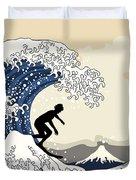 The Great Surfer Off Kanagawa Duvet Cover