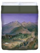 The Great Wall Of China Duvet Cover by William Simpson