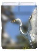 The Great White Egret Duvet Cover