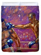 the Greatest  Muhammed Ali vs Jack Johnson Duvet Cover