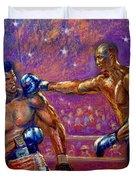 the Greatest  Muhammed Ali vs Jack Johnson Duvet Cover