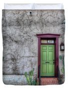 The Green Door Duvet Cover