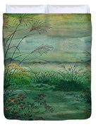 The Green, Green Grass Of Home Duvet Cover
