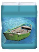 The Green Rowboat Duvet Cover