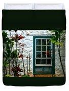 The Green Window Duvet Cover