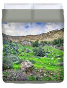 The Greening Of The Las Llajas Trail  Duvet Cover