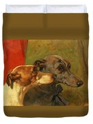 The Greyhounds Charley And Jimmy In An Interior Duvet Cover
