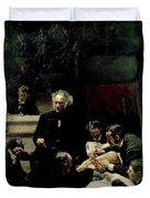 The Gross Clinic Duvet Cover by Thomas Cowperthwait Eakins
