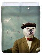 The Grumpy Man Duvet Cover by Martine Roch