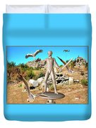 The Guardian Of The Ruins 1 Duvet Cover