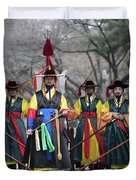 The Guards Of Seoul. Duvet Cover