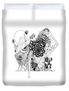 Guitar Man...   - L'homme Guitare... Duvet Cover
