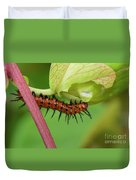 The Gulf Fritillary Caterpillar  Duvet Cover