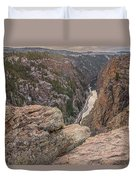 The Gunnison River At Black Canyon Duvet Cover