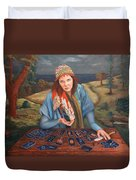 The Gypsy Fortune Teller Duvet Cover by Enzie Shahmiri