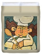 The Happy Chef Duvet Cover