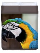 The Happy Macaw Duvet Cover