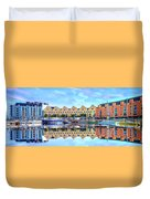 The Harbor At Galway Duvet Cover