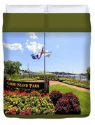 The Harbor Island Park In Mamarineck, Westchester County Duvet Cover