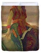 The Harpist Duvet Cover by Antoine Auguste Ernest Herbert