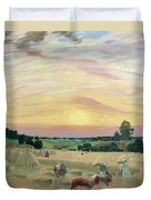 The Harvest Duvet Cover by Boris Mikhailovich Kustodiev