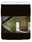 The Haunted Staircase - Abandoned Building Duvet Cover