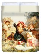 The Haymakers Duvet Cover by Frederick Morgan