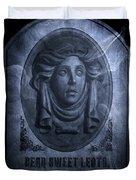 The Headstone Of Madame Leota Duvet Cover