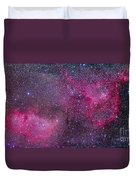 The Heart And Soul Nebulae Duvet Cover