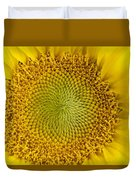 The Heart Of The Sunflower Duvet Cover