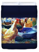 The Henhouse Watering Hole Duvet Cover by Kathy Braud